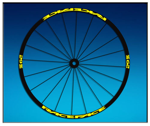 "DES AUTOCOLLANTS UN FEUILLARD RACEFACE 26 ""27,5 29"" AM54 BIKE MTB DOWNHILL."