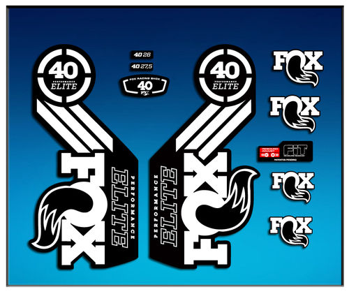 Sticker Fork Fox 40 Elite Series Am68 Aufkleber Decals Autocollants Adesivi Forcela Gabel
