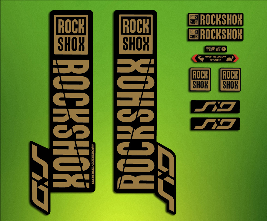 Stickers Rock Shox Sid Fork 2018 ELX69 Fork Aufkleber Decals MTB